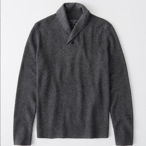 Abercrombie Fitch Men's SHAWL SWEATER xl